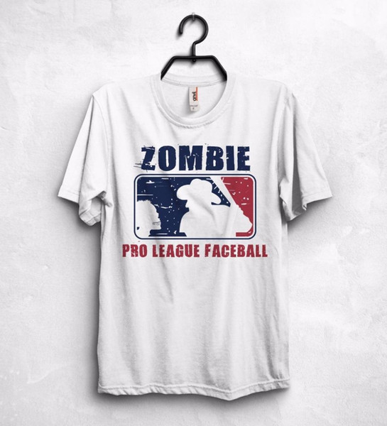 Zombie Pro League T Shirt Top Defence Fear The Survival Baseballer 2018 Fashion Short Sleeve Men Tee Shirt