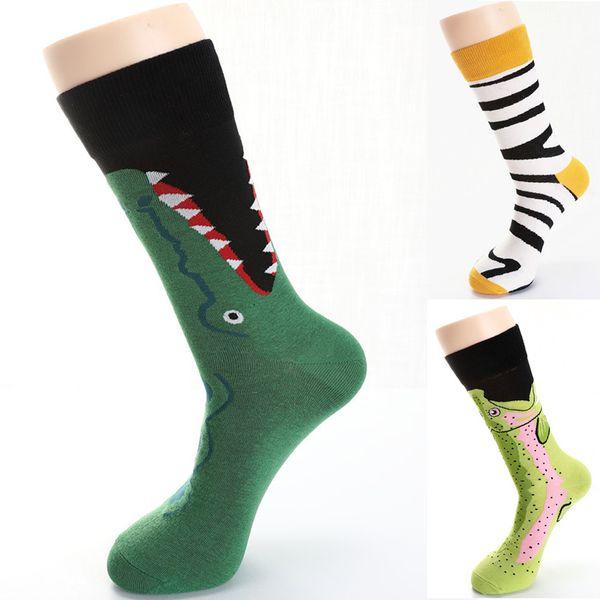Fashion Mans Cotton Color Block Socks Warm Colorful Diamond Casual Dress Socks Comfortable Stripe Cotton Slippers Meias#20
