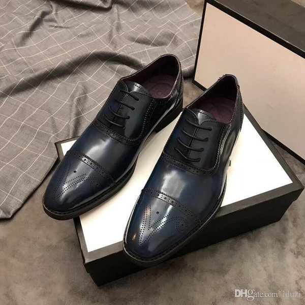 Original Men Dress Shoes Crocodile Pattern Elegant Formal Shoes Leather Classic Designer Suit Shoes For Wedding Party Red Leather Bottom