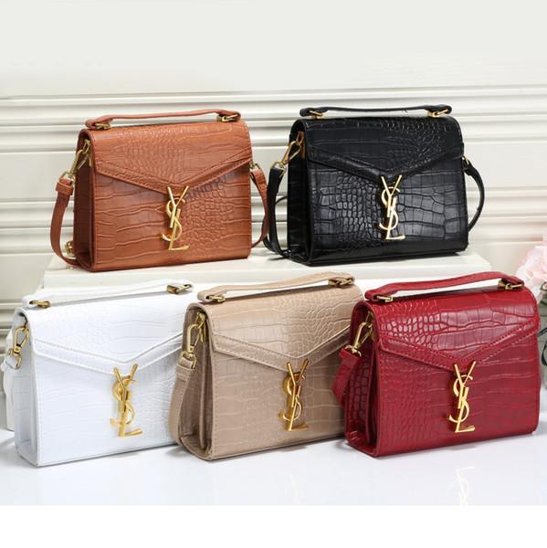 Moda de alta qualidade Mulheres Bolsas de Ombro Letters pu cor sólida fivela de metal saco do telefone Casual Temperamento Senhoras Bolsa