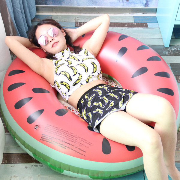 120cm Watermelon swimming rings adult thickened men and women inflatable life rings adult children baby swimming