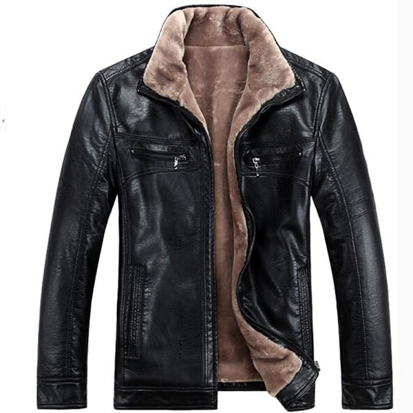 Sonbahar ve kış erkek suni deri ceket erkekler taklit kürk ceketler adam artı boyutu erkekler eğlence kısa palto boyutu M-4XL ücretsiz kargo