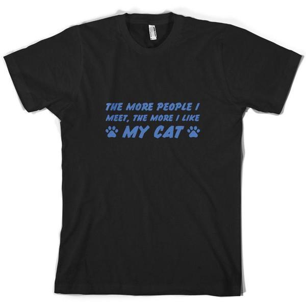 Karşılaştığım Daha Fazla Kişi, Kedimi Daha Sevdiğim - Erkek Tişört - Kitten