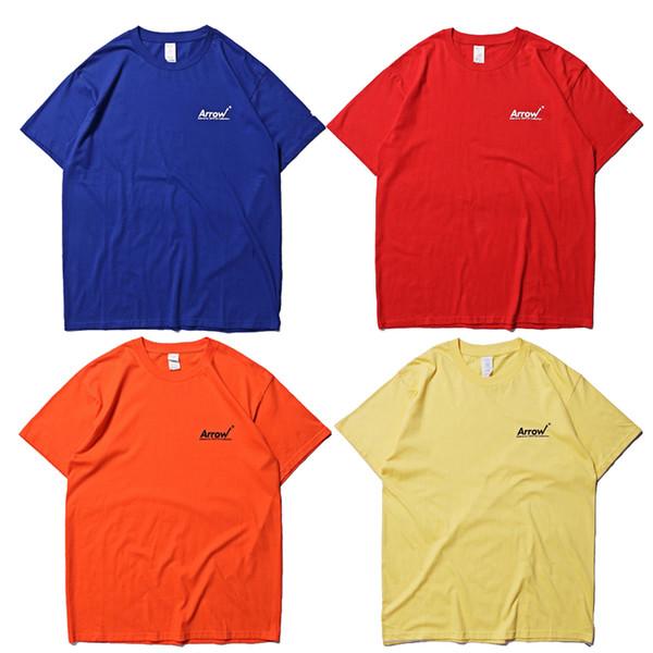 ADER error Arrow Logo T-Shirt Kurzärmliges, lässiges T-Shirt aus Baumwolle mit O-Ausschnitt Unisex Solid Hip Hop Tops CLI0611