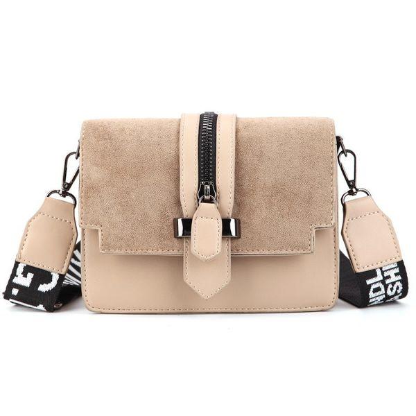 2019 новая мини-сумка женщин моды Ins ультра огонь ретро широкий плечевой ремень сумка кошелек простого стиль Crossbody сумка