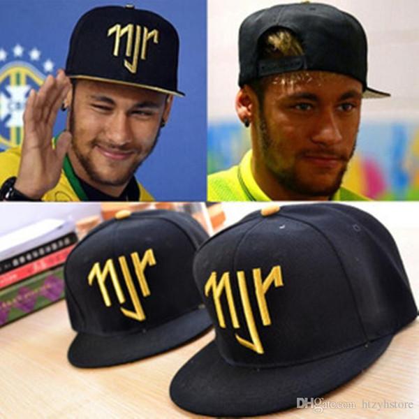 Vente en gros- Neymar JR njr Brésil Brésil Casquettes de baseball hip hop Sports Snapback Chapeau Chapeu de Sol OS masculino Hommes Femmes Nouveau 2014