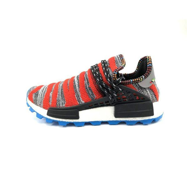 New Human Race Creme NERD Solar Pack Homecoming Running Shoes pharrell williams Afro Hu trail Core Black trainers Men Women Sports sneaker