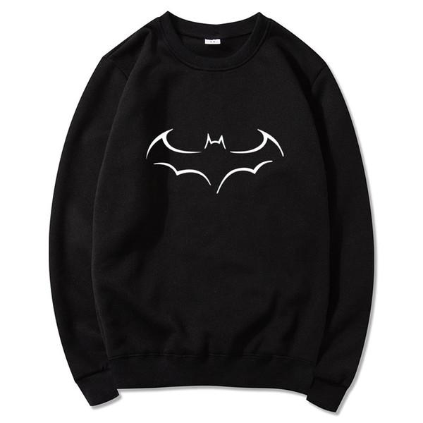 Super Hero Batman Print Hoodie Men Harajuku Sweatshirts Winter Casual Fleece Warm Hip Hop Streetwear Mens