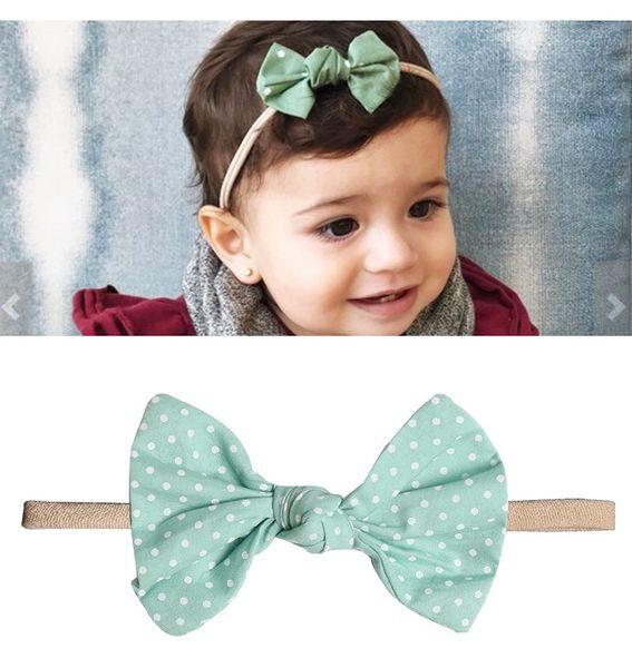 Floral baby accessories hair ties girls Unicorn cotton ribbon baby turbans Headband Head Knited softball band scrunchies Headbands hairbows