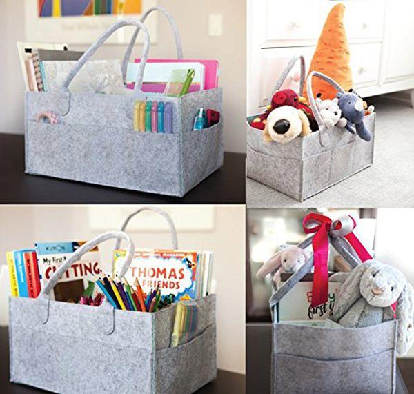 Home storage bag baby diaper bucket baby diaper wet bag caddy tissue basket L0430