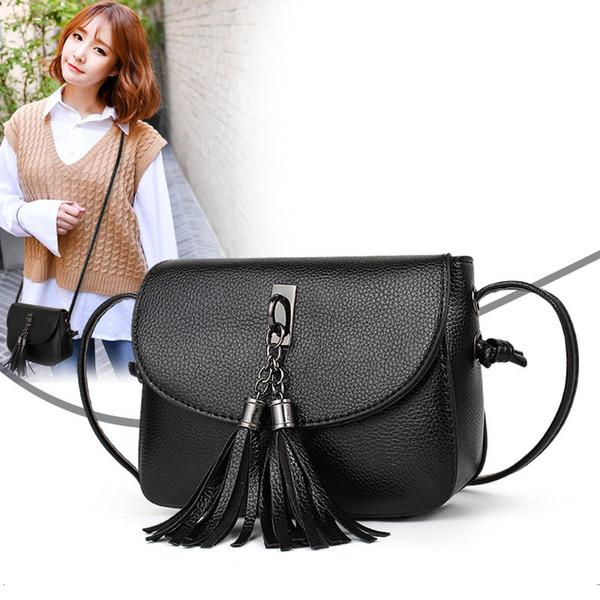 Charm2019 Small Bag Tassels Diagonal Korean Cool Time Single Shoulder Mobile Phone Package