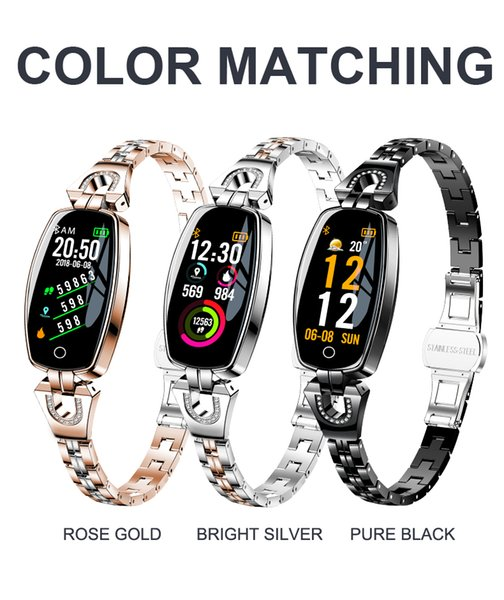 ZZYD H8 Fitness Bracelet Women Sport Smart Watch Waterproof Heart Rate Monitoring Bluetooth For Samsung S10 S10e Android IOS Wristband