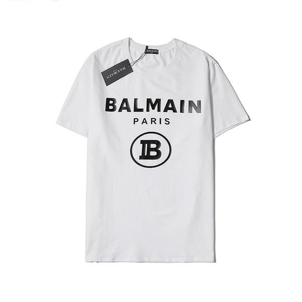 Été luxe Hommes T-shirt de marque femmes T-shirt Lettre Imprimer Pull Hommes Chemises Sweat-shirt à manches courtes de luxe Chemisier blanc B105201L
