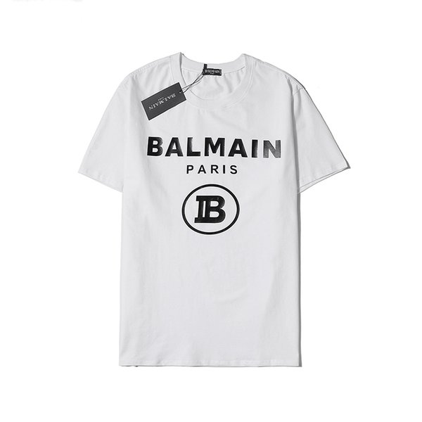 Mens T Shirt Estate Luxury Brand T-shirt Lettera Stampa Pullover Mens camice casuali di lusso Felpa manica corta camicetta bianca B105201L