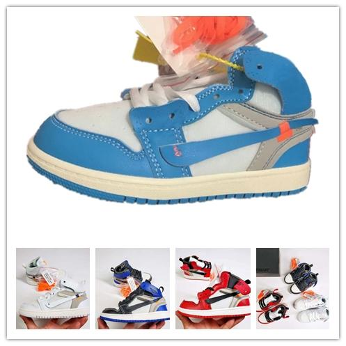 Luxus-Designer UNC OG 1s aus Kids Chicago 1 Infant Jugend Boy Girl Sneaker Kleinkinder weiß blau Born Baby Trainer Kinder Basketballschuhe