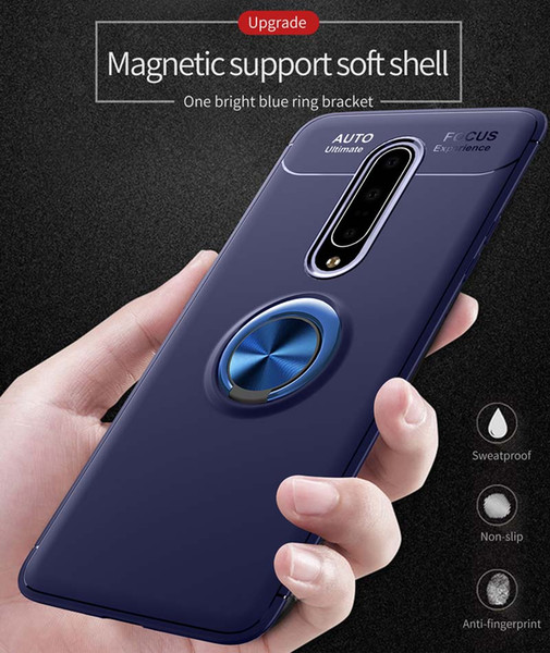 Magnetic Ring Holder TPU Cell Phone Cases For Huawei P30 Pro Iphone One Plus 7 Samsung Galaxy S10 A50 A70 360 Kickstand Covers