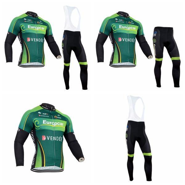 Equipo de EUROPCRA Ciclismo mangas largas jersey baberos conjuntos y tops para hombre múltiples opciones Estilo Ciclismo ropa deportiva Q72021