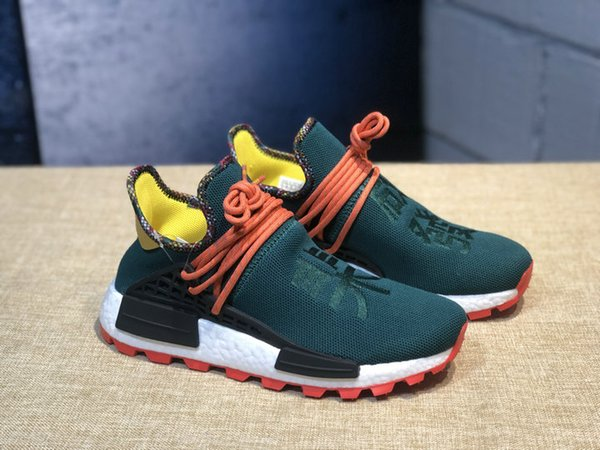 2019 Newest Human Race Hu Inspiration Pack Running Shoes Real Basf Bottom Top Quality Pharrell Williams Trainer Sneakers Running Shoe Best Running