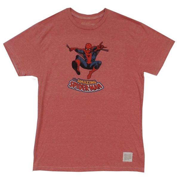 Spider-Man Classic Pose Marvel En détresse Rétro Marque Sous Licence Adulte T Shirt Hommes Femmes Mode Unisexe t-shirt Livraison Gratuite