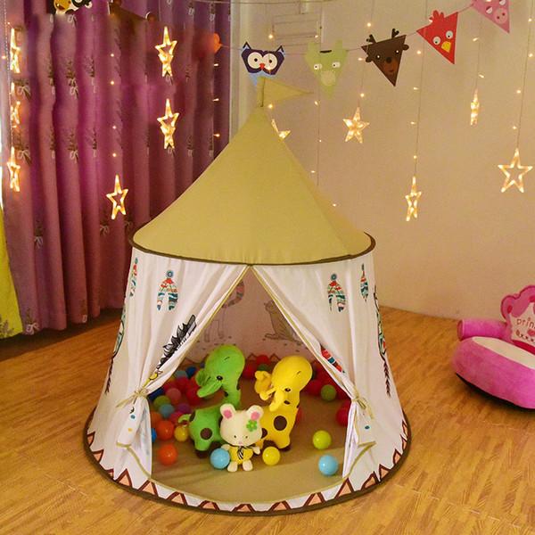Little Lion Tente Château Indien Intérieur Bébé Jouet Maison Princesse Salle Prince tente pour les enfants Game House