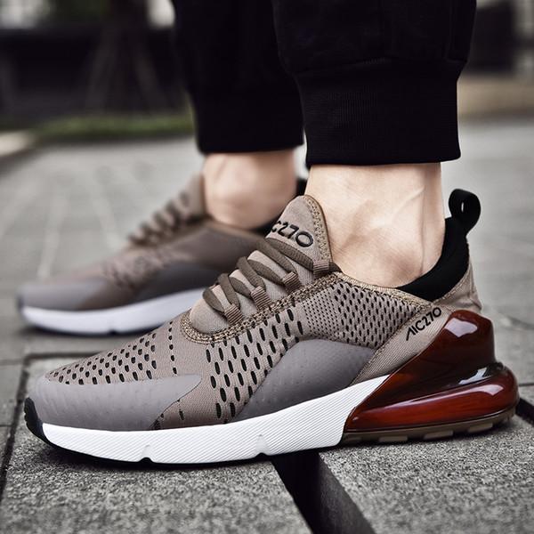 Artı Boyutu 47 Erkekler Hava Yastığı Rahat Ayakkabılar Erkekler Eğilim Nefes Sneakers Ayakkabı Lüks Işık Lace Up Sönümleme Unisex