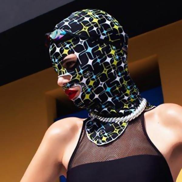 H779 Yüzme başlık su geçirmez güneş maskesi rüzgar geçirmez yüzme kap dalış ekipmanları dalış yüz Gini güneş koruyucu plaj maskesi