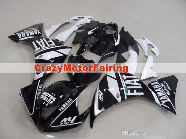 3 Free Gifts New ABS Injection High quality Fairing Kits 100% Fit For YAMAHA YZF1000 R1 YZF-R1 2009 2010 2011 09 10 11 black white FIAT