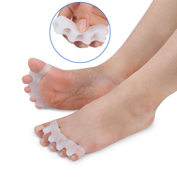 Silicone Joanete Corrector Toe Separadores Foot Care Ferramenta Hálux Valgo Corrector Straightener Espalhador Livre 5 cores LLA393