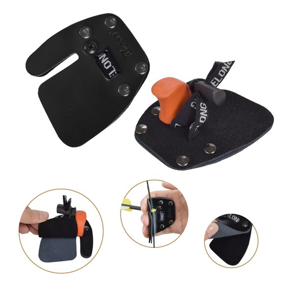 1x leather finger tab right hand glove youth recurve bow archery shooting outdoor sport ing thumbnail