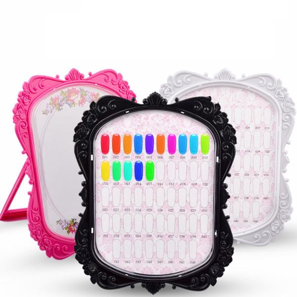 Carte de couleur pour les ongles en gel double face avec affichage des ongles en couleur Cartes de pratique en carton 48 Conseils Nail Art Tools