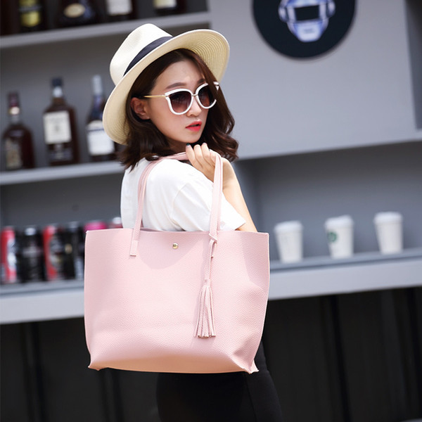 2019 Le donne di grande capienza Weekend Bag dell'unità di elaborazione Leather Shopping Bag Donna Weekend elegante Messenger Bag