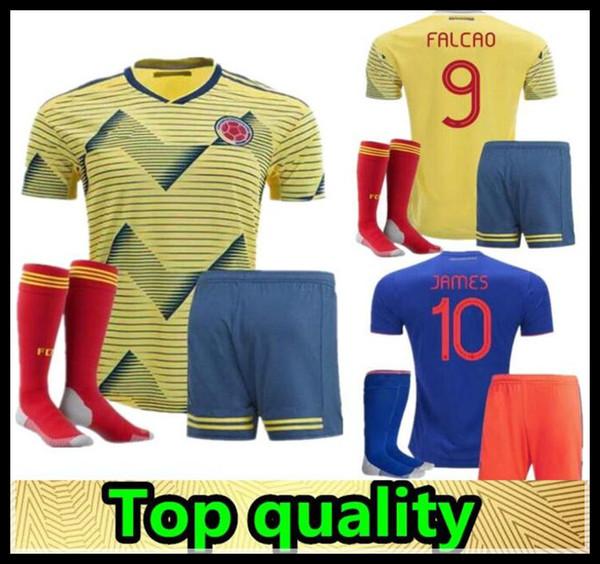 e55f694b4 2019 kids Colombia Soccer Jerseys kits capo america 2019 FALCAO JAMES  CUADRADO AGUILAR GUARIN football shirt