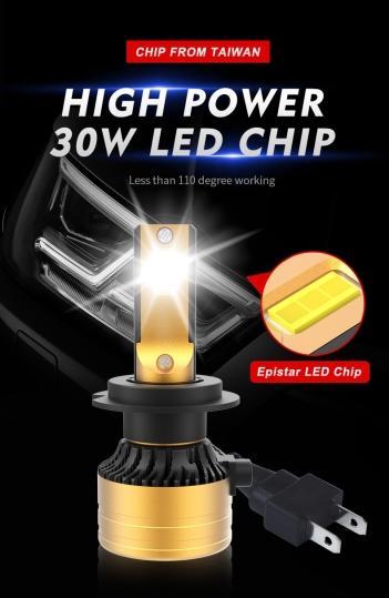 2PC NB35 LED faro NB35 ultra-alta H4H7 faro láser faro H4 H13 luz 9004 9007
