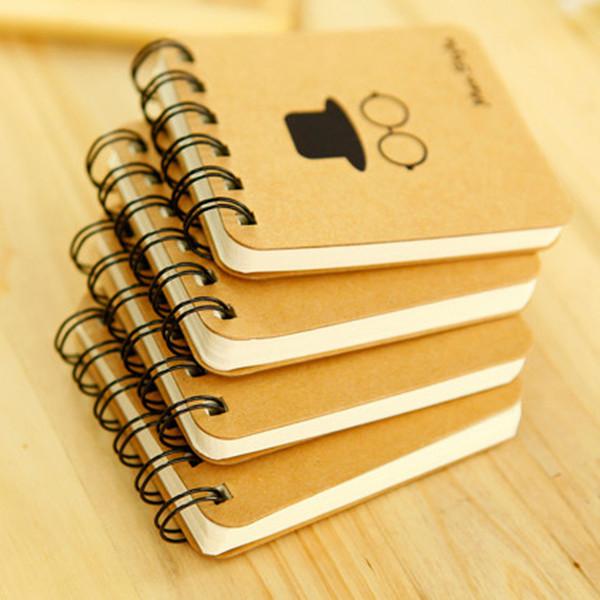 Cep Bloknot Dana Kağıt Bobinleri Taşınabilir Dizüstü Sakal Not Defteri Mini Dergisi Cep Notlar Ofis Okul Malzemeleri VT1435