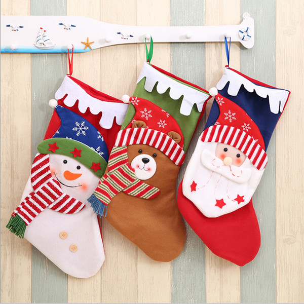 Hanging Christmas Decorations To Make.Newest Christmas Gift Bag Hanging Christmas Stocking Santa Claus Snowman Reindeer Bear Gift Sock Home Xmas Pendant Decorations Ornament Make Christmas