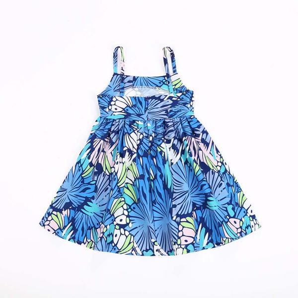 2018 New Summer Baby Girls Dress Fashion Girl Printed Suspender Skirt Soft Breathable Dress Childrend Vest Dress kids Clothing