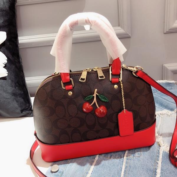 Designer Tasche Top Qualität Shell Tasche Mode Charme Dame Luxus schräge Tasche exquisite Kirsche Muster Hardware Größe 25 * 19 * 9