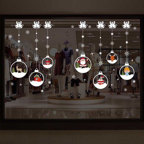 Christmas Window Decals.Various Christmas Window Stickers Removable Waterproof Decorative Wall Stickers Nursery Wall Stickers Order Wall Decals From Chinaledworld 1 91