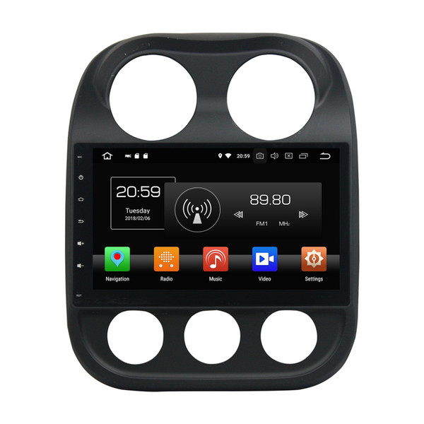 """Android 8.0 Octa Core 10.1"""" Car DVD Radio GPS Head Unit for Jeep Compass 2010 2011 2012 2013 2014 2015 4GB RAM Bluetooth WIFI Mirror-link"""