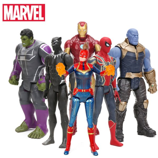 2019 29cm Marvel Captain the Avengers 4 Toys INFINITY WAR Thanos Action Figures TITAN HERO SERIES Figure Collectible Model Toy