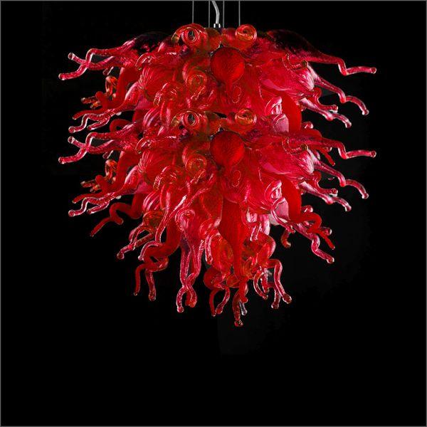 Restaurante decorativas hechas a mano lámpara de cristal soplado decoración del hogar de la lámpara de mano ligera de soplado de Murano lámpara de cristal Lámparas