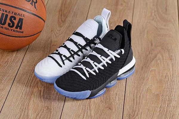 16s uguaglianza di pallacanestro scarpe Per Uomo James Sneakers Watch The Throne Re Oreo New-LeBron 16 Uguaglianza Szie 40-46