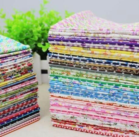 9 unids 22x20 cm aleatorio liso delgado tela de algodón floral serie edredón encanto cuartos de costura de costura 2019