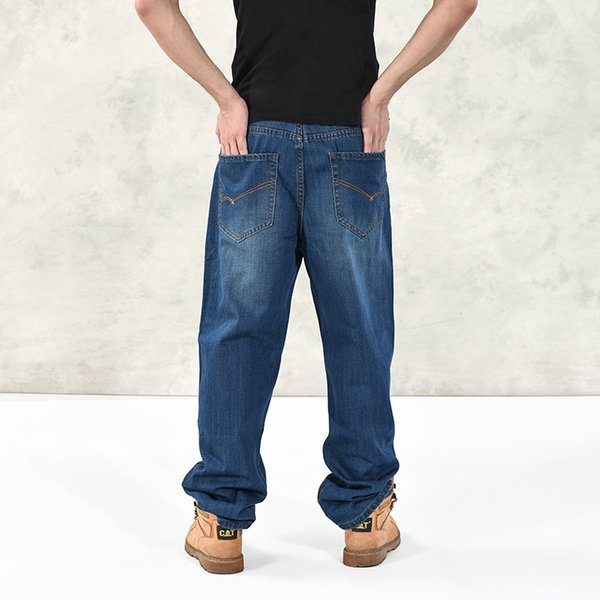 Men Baggy Jeans Mens Hip Hop Jeans Long Loose fashion Skateboard Baggy Relaxed Fit Men Street Dance Pants