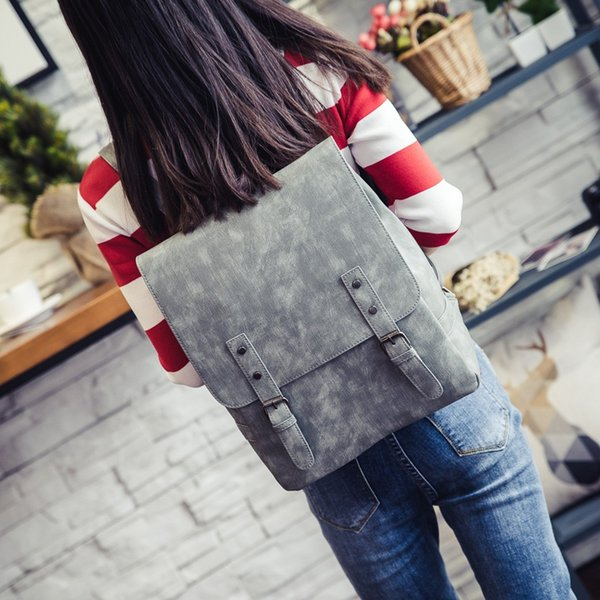 College Style Ladies Bag Female Models Trend Luggage Bag Retro Women's Backpack messenger for women 2018_11.28