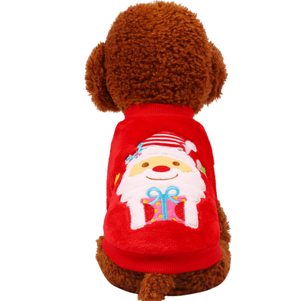 Pet clothes autumn and winter Christmas Teddy Bear small dog cartoon pattern two feet clothes
