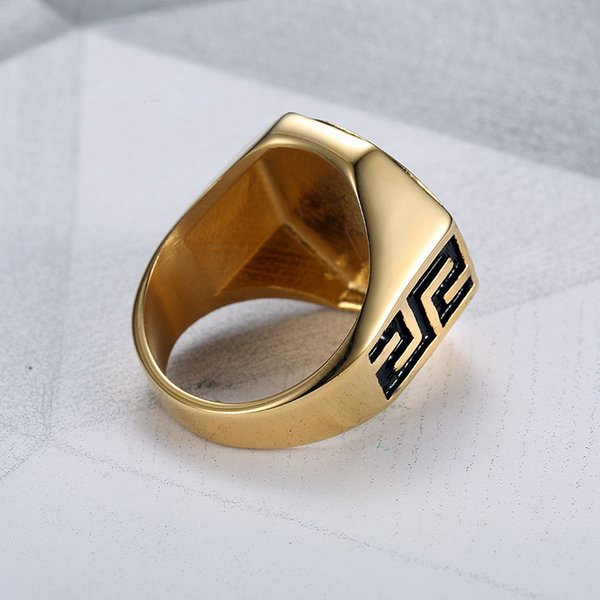 Ancient Greek Mythology Medusa Ring Stainless and Titanium Steel Rings for Men Popular in Teenagers Free shipping Hip Hop Rings