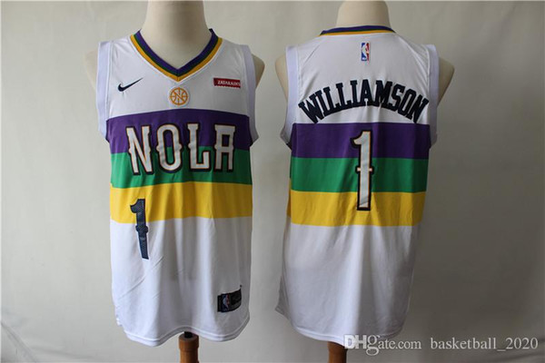 super popular 79088 2a021 2019 2020 New Mens Pelicans 1 Zion Williamson Swingman Jersey Authentic  Embroidery New Orleans 2# Lonzo Ball Pelicans Basketball Jersey Stitched  From ...
