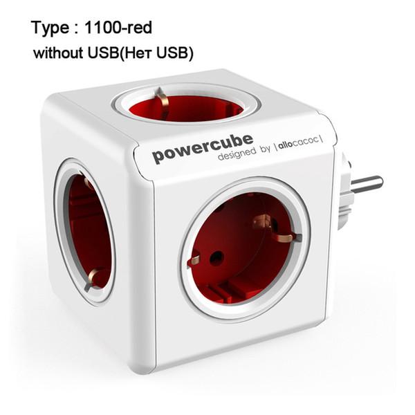 EU Plug - rosso-senza-USB
