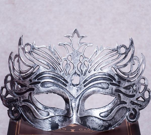 2019 Chapado En Oro Princesa Corona Hombres Máscara de Danza Máscara de La Mascarada de Venecia Juguetes de Fiesta Tema de Película Props Supply